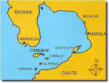 Map of Bataan   All About Philippine Resorts